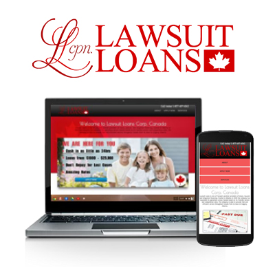 Lawsuit Loans - Website Design Portfolio