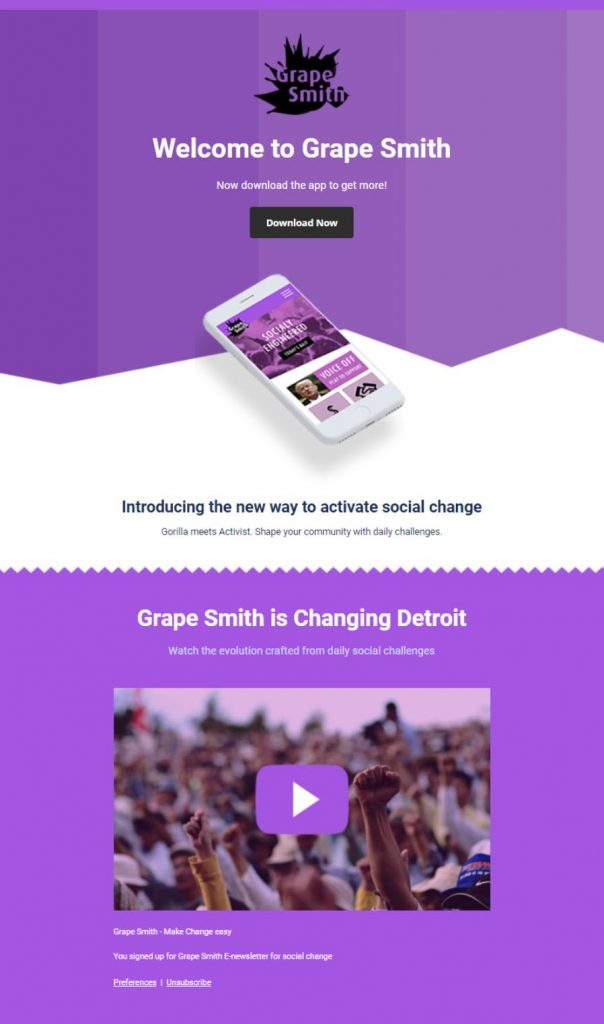 Grape Smith Welcome Email