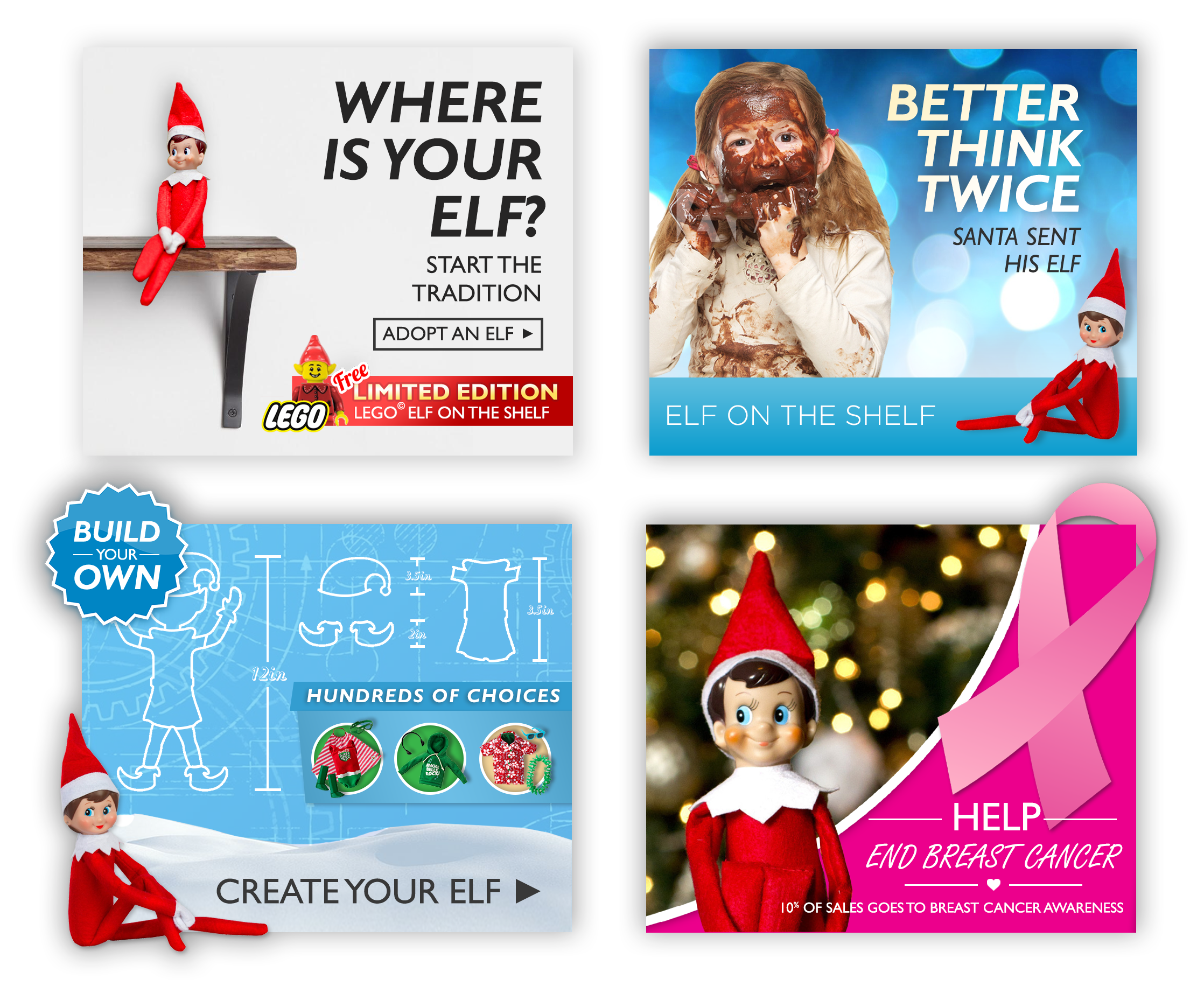 Elf on the Shelf - Original Andrew Display Ads