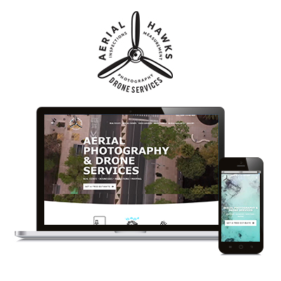 Aerial Hawks Website Design Portfolio