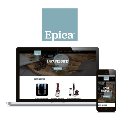 Epica Products - Website Design Portfolio