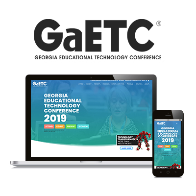 Georgia Educational Technology Conference - Website Design Portfolio