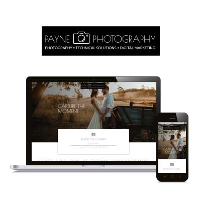 Payne Photography - Website Design & Logo Creation